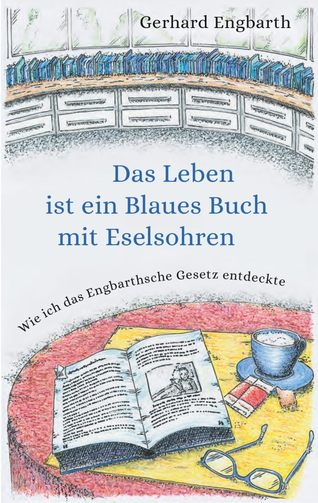 """Buchcover """"Das Leben ist ein Blaues Buch mit Eselsohren"""""""